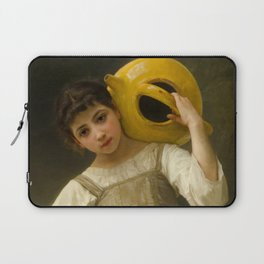 """William-Adolphe Bouguereau """"The Water Girl"""" Laptop Sleeve"""