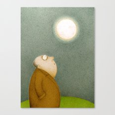 Super Moon (Digital Retro) Canvas Print