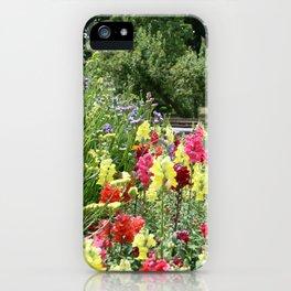 English Country Garden Scene iPhone Case