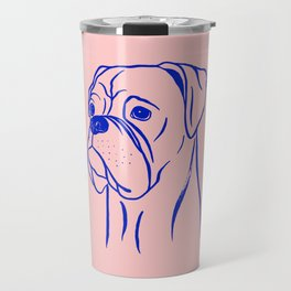 Boxer (Pink and Blue) Travel Mug