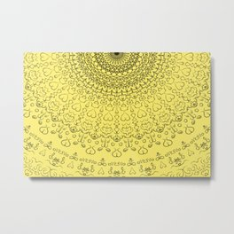 Love Life Mandala Metal Print
