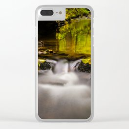 Easy flowing water in autumn Clear iPhone Case