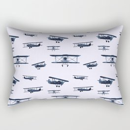 Retro airplanes #2 || watercolor Rectangular Pillow