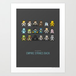 Mega Star Wars: Episode V - Empire Strikes Back Art Print