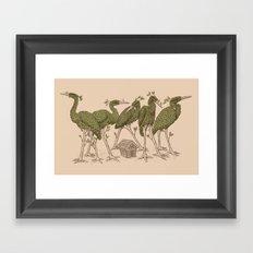 Bird Forest Framed Art Print