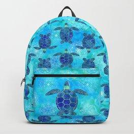 Watercolor Sea Turtles Mandalas Pattern Backpack