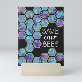 Save Our Bees No. 2 Mini Art Print
