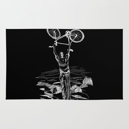 Bike Contemplation Rug