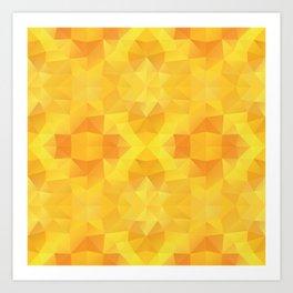 """Honey sun"" kaleidoscopic design Art Print"