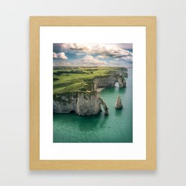 Elephant cliffs Framed Art Print