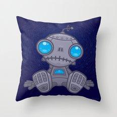 Sad Robot Throw Pillow