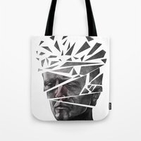 blade runner Tote Bags featuring Blade Runner by Andy Pugh
