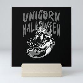 Scary Unicorn Halloween 2020 Gift idea Mini Art Print