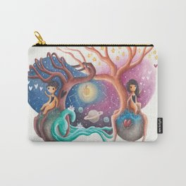 Girl and Boy In Love From Different Worlds Carry-All Pouch