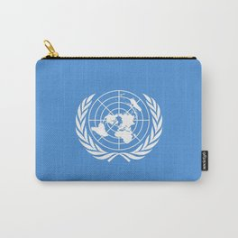 Flag on United nations -Un,World,peace,Unesco,Unicef,human rights,sky,blue,pacific,people,state,onu Carry-All Pouch