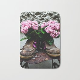 These Boots Are Made For Flowers Bath Mat