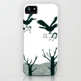 Ravens Carry You Away iPhone Case