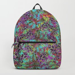 Grunge Art Floral Abstract G124 Backpack