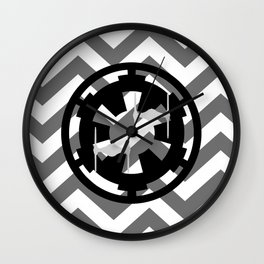 Star Wars Imperial Cog and Tie Fighters Chevrons Wall Clock