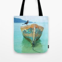 karu kara Tote Bags featuring BOATI-FUL by Catspaws