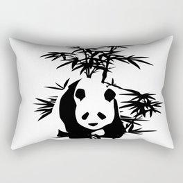 Giant Panda Bear and Bamboo Tree Rectangular Pillow