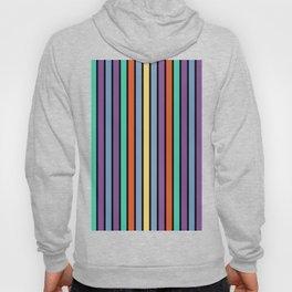 90s Color Block Stripes Hoody