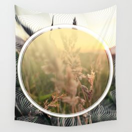 Peel sunset lll - circle graphic Wall Tapestry