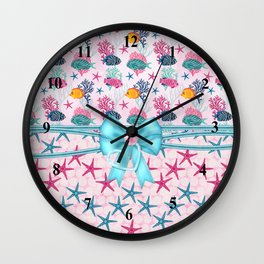 Starfish Sea Life Tropical Fish Wall Clock