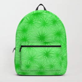 Green Fuzzball Abstract Backpack