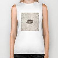 hedgehog Biker Tanks featuring Hedgehog by Mr and Mrs Quirynen