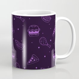 Fast Food Snacks Attack - Pizza Pie Hot Dogs Chicken Wings! on Purple Coffee Mug