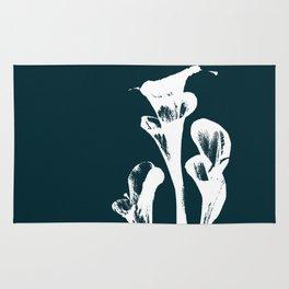 Calla Lily - Navy Rug