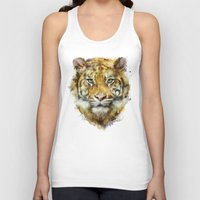 tiger Tank Tops featuring Tiger // Strength by Amy Hamilton