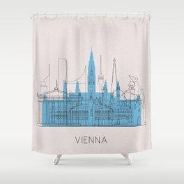Vienna Landmarks Poster Shower Curtain