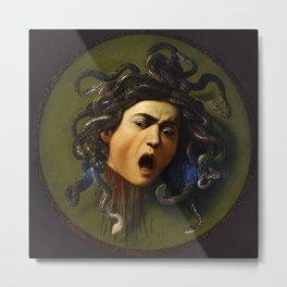 Medusa - Caravaggio (1597) Metal Print