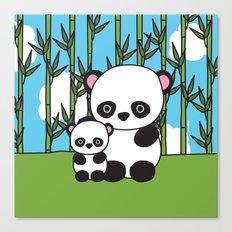 Panda Sweetness Canvas Print