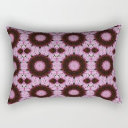 Pink Cone Flower Abstract Tile 78 Rectangular Pillow
