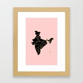 India map Framed Art Print