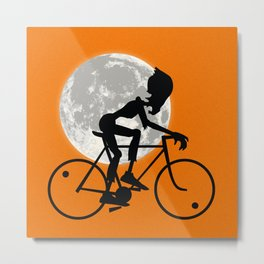 Friendly Zombie On The Go - Bike Metal Print