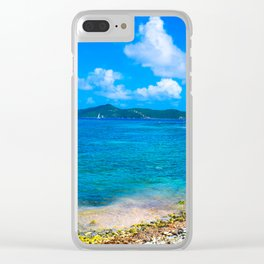 Coral Bay Shoreline Clear iPhone Case