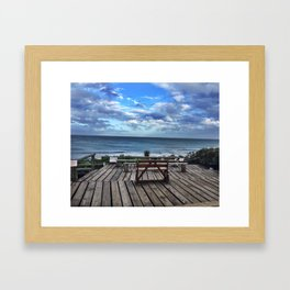 Place Butts Here Framed Art Print