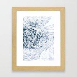 Ice Sword Framed Art Print