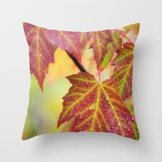 Maple Leaves Throw Pillow
