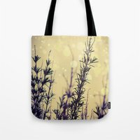 fireflies Tote Bags featuring Fireflies by Kanelov