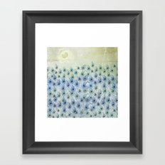 Peacock Sea Framed Art Print