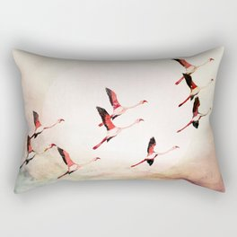 Flock of Flamingos Rectangular Pillow