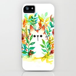 Garden Cat iPhone Case