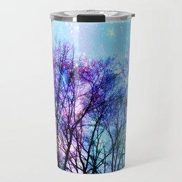 Black Trees Playful Pastels Space Travel Mug