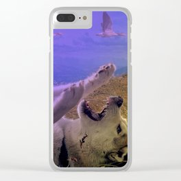 Siberian Husky Digit. Edition Clear iPhone Case