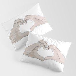 Hand Heart Shades Pillow Sham